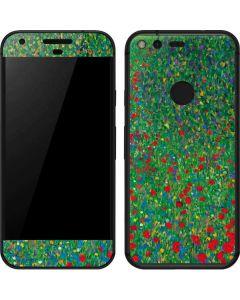 Poppy Field by Gustav Klimt Google Pixel Skin