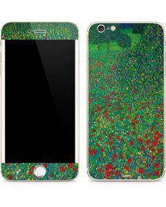 Poppy Field by Gustav Klimt iPhone 6/6s Plus Skin