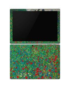 Poppy Field by Gustav Klimt Surface Pro 6 Skin