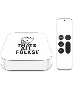Porky Thats All Folks Grid Apple TV Skin