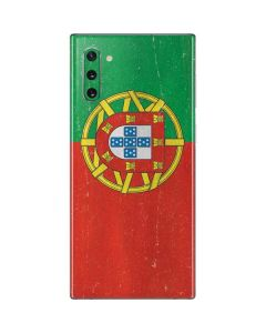 Portugal Flag Distressed Galaxy Note 10 Skin