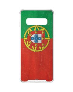 Portugal Flag Distressed Galaxy S10 Clear Case