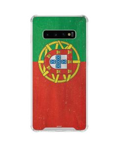Portugal Flag Distressed Galaxy S10 Plus Clear Case