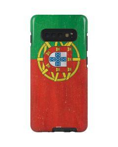 Portugal Flag Distressed Galaxy S10 Plus Pro Case
