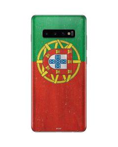 Portugal Flag Distressed Galaxy S10 Plus Skin