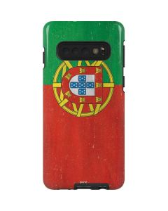 Portugal Flag Distressed Galaxy S10 Pro Case