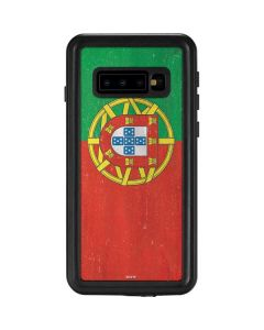 Portugal Flag Distressed Galaxy S10 Waterproof Case