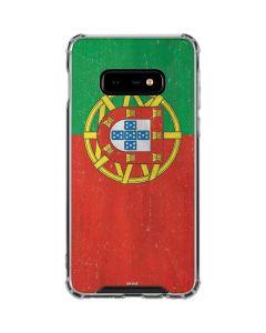 Portugal Flag Distressed Galaxy S10e Clear Case