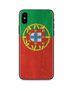 Portugal Flag Distressed iPhone XS Max Skin