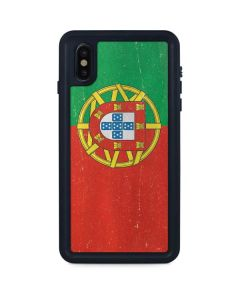 Portugal Flag Distressed iPhone XS Max Waterproof Case