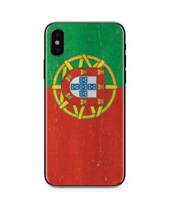 Portugal Flag Distressed iPhone XS Skin
