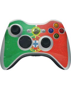 Portugal Flag Distressed Xbox 360 Wireless Controller Skin
