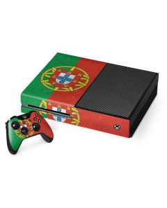 Portugal Flag Distressed Xbox One Console and Controller Bundle Skin