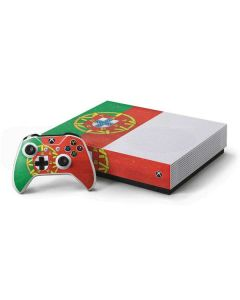 Portugal Flag Distressed Xbox One S All-Digital Edition Bundle Skin