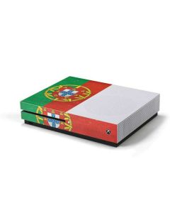 Portugal Flag Distressed Xbox One S Console Skin