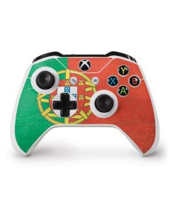 Portugal Flag Distressed Xbox One S Controller Skin