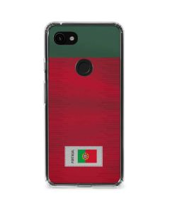 Portugal Soccer Flag Google Pixel 3a Clear Case