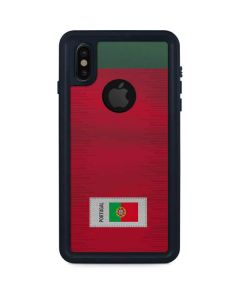 Portugal Soccer Flag iPhone XS Waterproof Case