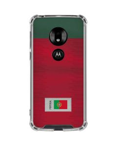 Portugal Soccer Flag Moto G7 Play Clear Case