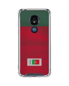 Portugal Soccer Flag Moto G7 Power Clear Case