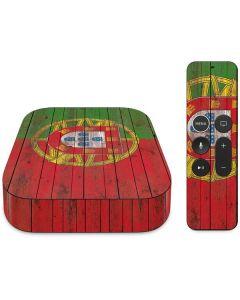 Portuguese Flag Dark Wood Apple TV Skin
