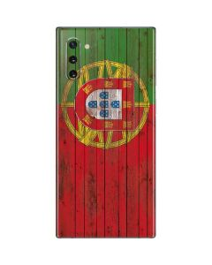 Portuguese Flag Dark Wood Galaxy Note 10 Skin