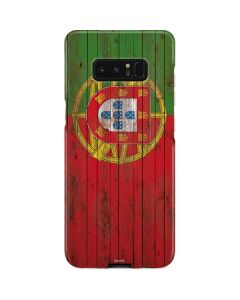 Portuguese Flag Dark Wood Galaxy Note 8 Lite Case