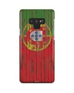 Portuguese Flag Dark Wood Galaxy Note 9 Lite Case