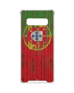 Portuguese Flag Dark Wood Galaxy S10 Clear Case