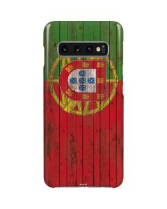 Portuguese Flag Dark Wood Galaxy S10 Lite Case