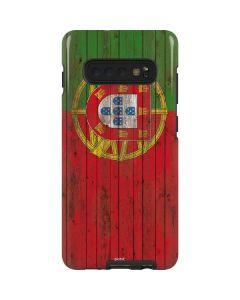 Portuguese Flag Dark Wood Galaxy S10 Plus Pro Case