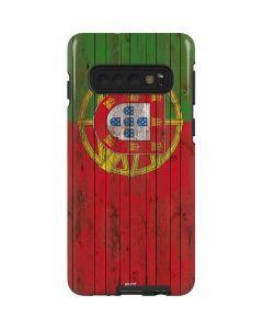 Portuguese Flag Dark Wood Galaxy S10 Pro Case