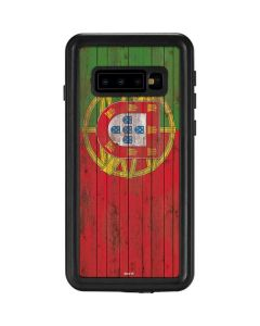Portuguese Flag Dark Wood Galaxy S10 Waterproof Case