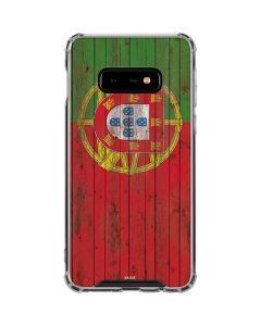 Portuguese Flag Dark Wood Galaxy S10e Clear Case