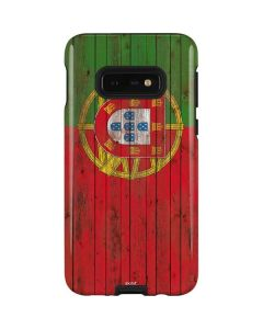 Portuguese Flag Dark Wood Galaxy S10e Pro Case