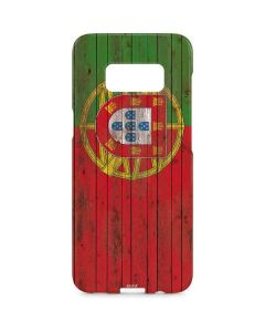 Portuguese Flag Dark Wood Galaxy S8 Plus Lite Case