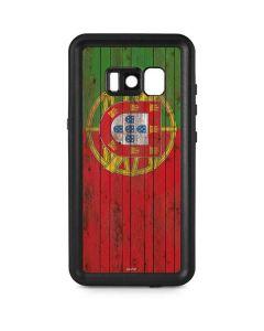 Portuguese Flag Dark Wood Galaxy S8 Plus Waterproof Case