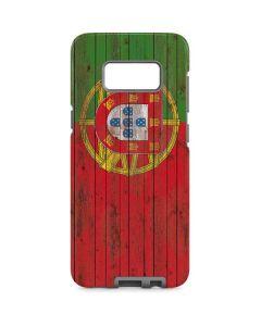 Portuguese Flag Dark Wood Galaxy S8 Pro Case