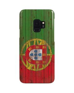 Portuguese Flag Dark Wood Galaxy S9 Lite Case