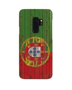 Portuguese Flag Dark Wood Galaxy S9 Plus Lite Case