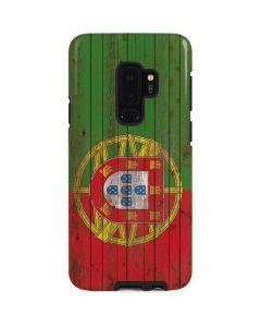 Portuguese Flag Dark Wood Galaxy S9 Plus Pro Case