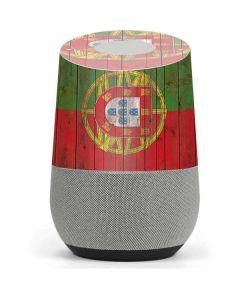 Portuguese Flag Dark Wood Google Home Skin
