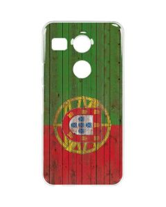 Portuguese Flag Dark Wood Google Nexus 5X Clear Case