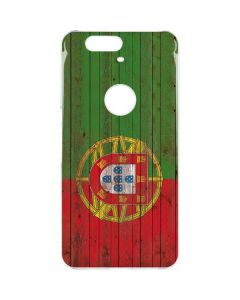 Portuguese Flag Dark Wood Google Nexus 6P Clear Case