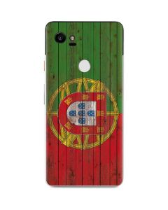 Portuguese Flag Dark Wood Google Pixel 2 XL Skin