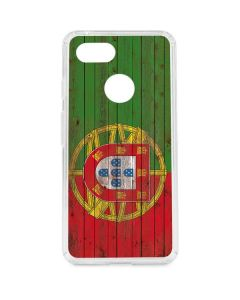 Portuguese Flag Dark Wood Google Pixel 3 Clear Case