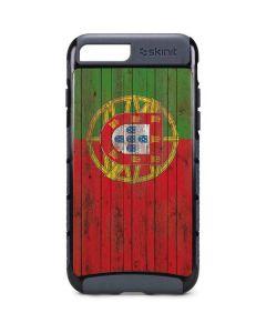 Portuguese Flag Dark Wood iPhone 8 Plus Cargo Case