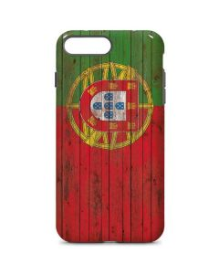 Portuguese Flag Dark Wood iPhone 8 Plus Pro Case
