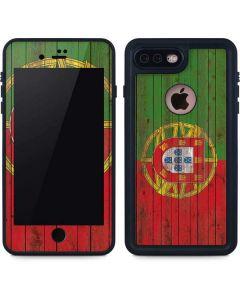 Portuguese Flag Dark Wood iPhone 8 Plus Waterproof Case