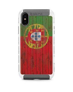 Portuguese Flag Dark Wood iPhone X/XS Cargo Case